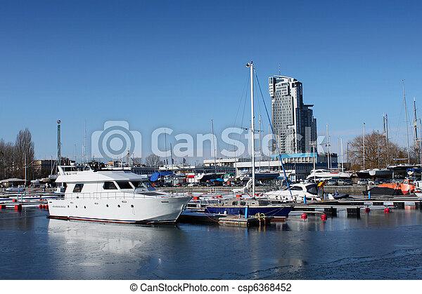 Gdynia harbour - csp6368452