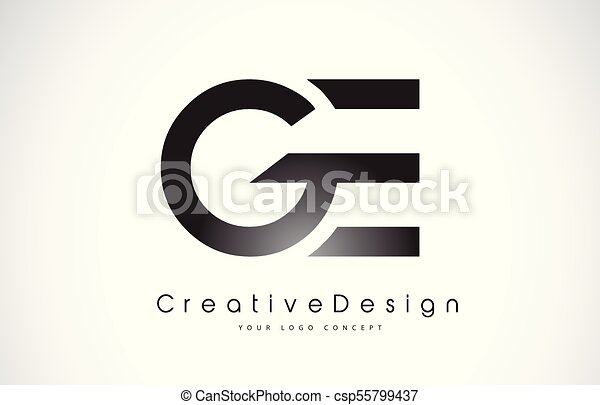 ge g e letter logo design creative icon modern letters vector logo