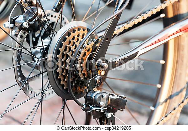 Gear Bicycle in soft light - csp34219205