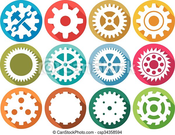 gear flat icons collection - csp34358594