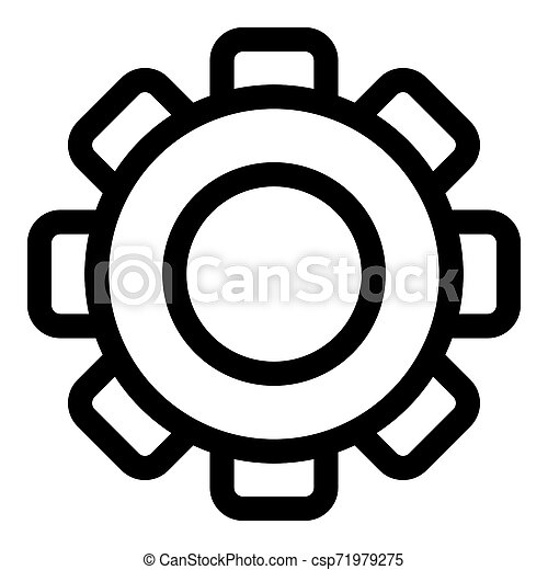 Gear icon, outline style - csp71979275