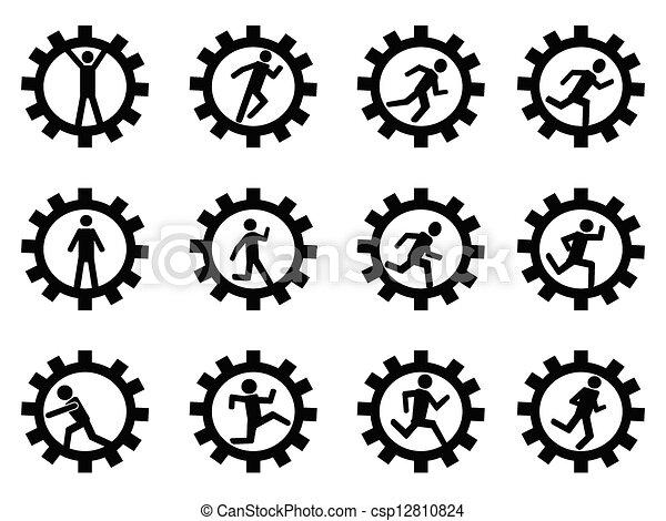 gear man symbol - csp12810824