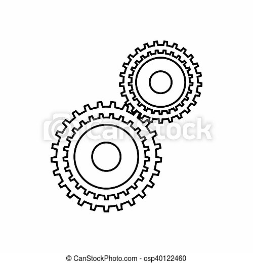 Gear mechanism icon, outline style - csp40122460