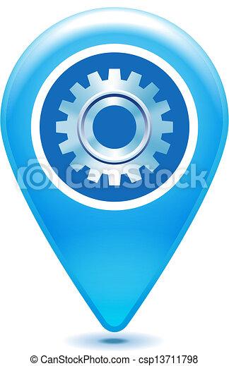 gear pointer icon on a white - csp13711798