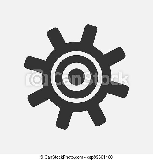 Gear simple icon isolated on white background - csp83661460