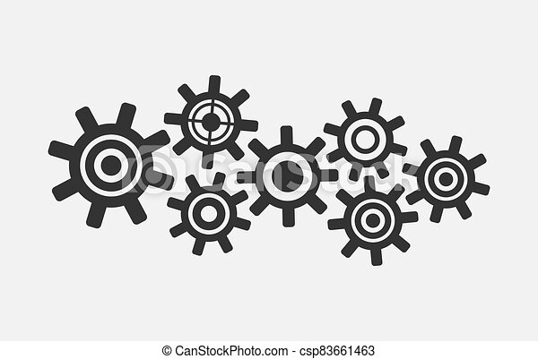 Gear simple icon isolated on white background - csp83661463