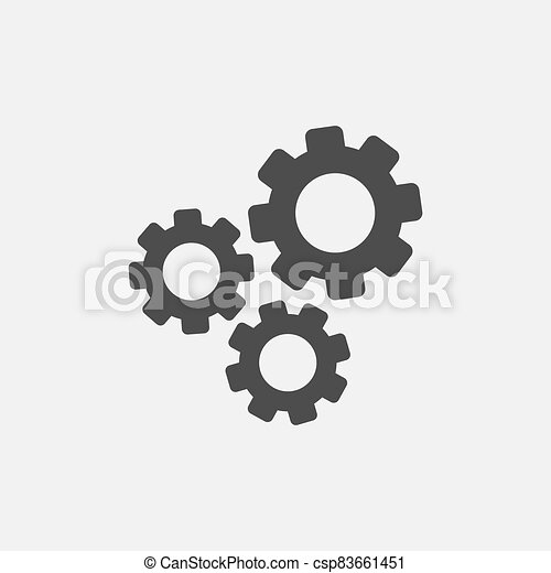 Gear simple icon isolated on white background - csp83661451