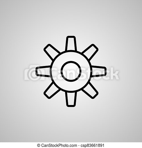 Gear simple icon isolated on white background - csp83661891