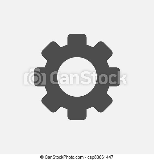 Gear simple icon isolated on white background - csp83661447