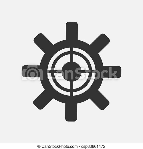Gear simple icon isolated on white background - csp83661472