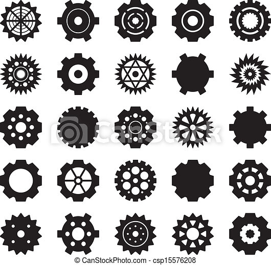 Gear Vector Set Vector Clipart Csp