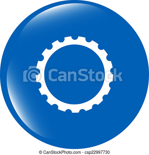 gear web icon, button isolated on white background - csp22997730