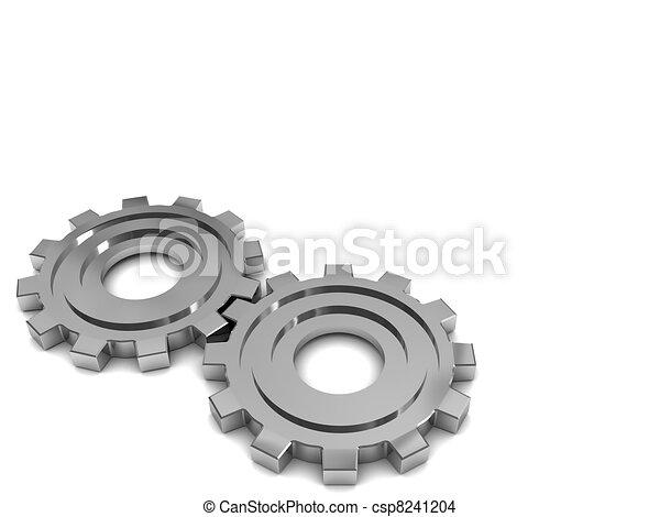 gear wheels background - csp8241204