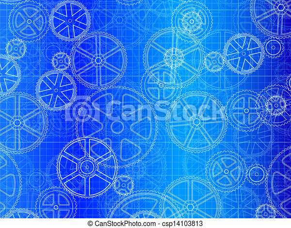 Gear wheels blueprint gear wheels industrial blueprint vector gear wheels blueprint csp14103813 malvernweather Image collections