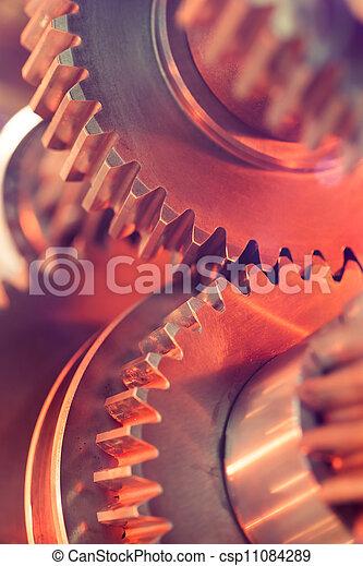 gear wheels close-up - csp11084289