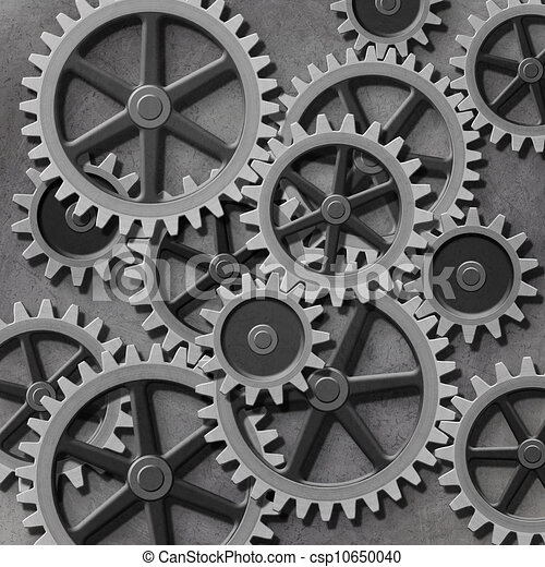 a mechanical background with gears and cogs Thinking Clip Art Brain with Gears Art