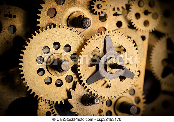 Gears and cogs macro - csp32493178