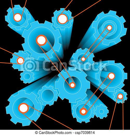 gears and cogwheels - csp7039814