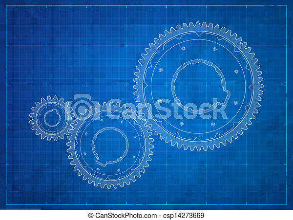 Gears blueprint business concept gears business concept vector gears blueprint business concept csp14273669 malvernweather Choice Image