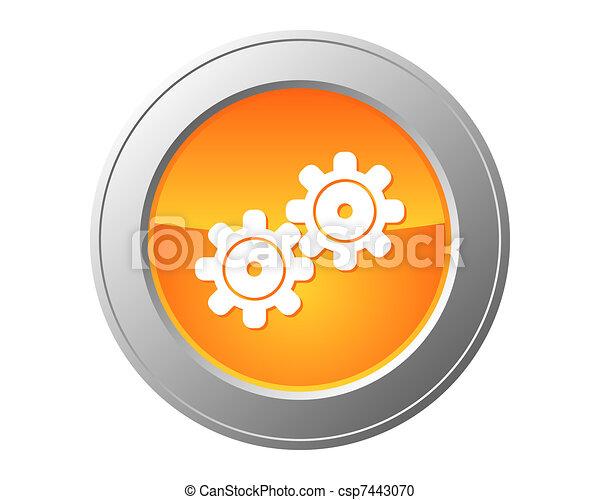 Gears button - csp7443070