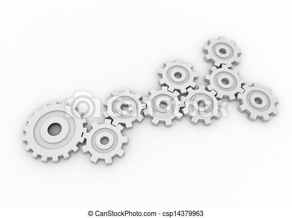gears concept - csp14379963