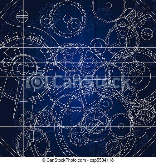 Gears blueprint vector vector search clip art illustration gears vector malvernweather Images