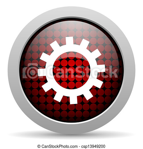 gears glossy icon - csp13949200