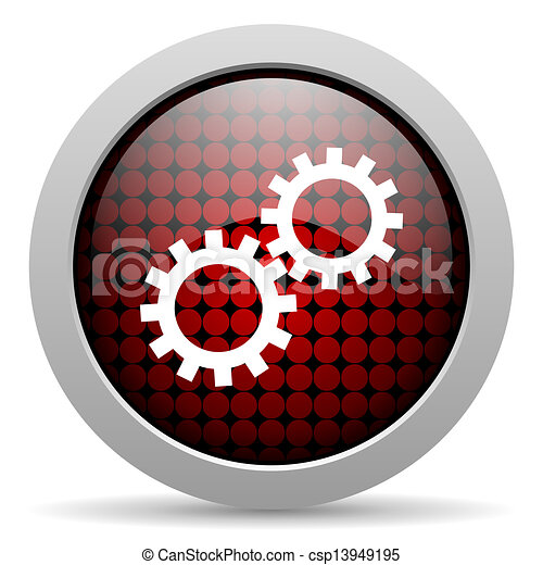 gears glossy icon - csp13949195