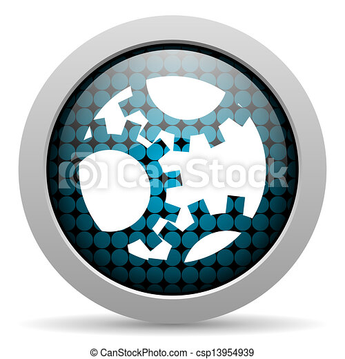 gears glossy icon - csp13954939