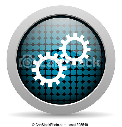 gears glossy icon - csp13955491