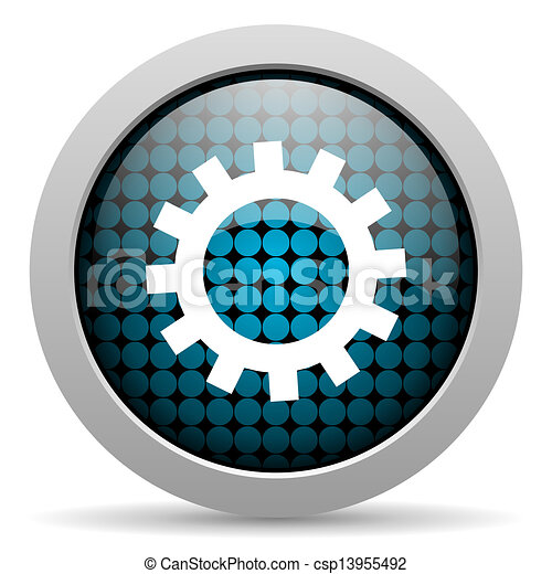 gears glossy icon - csp13955492