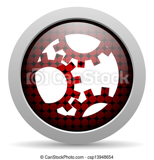 gears glossy icon - csp13948654