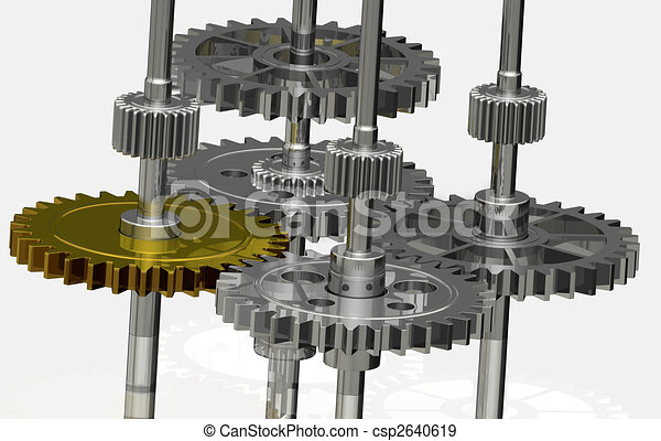 Gears - Gold and Silver - csp2640619