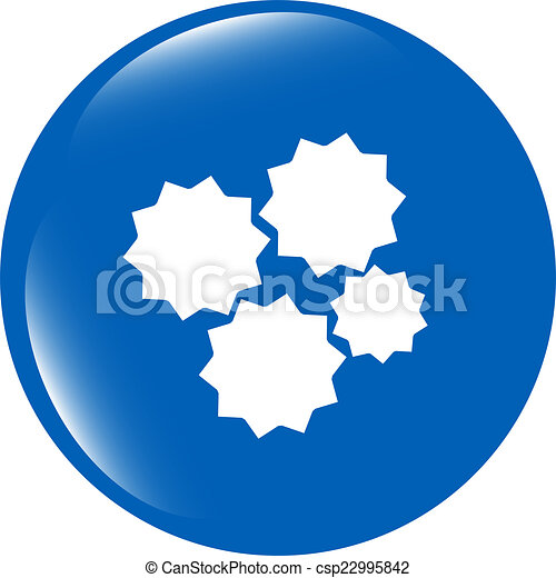 gears icon (button) isolated on a white background - csp22995842