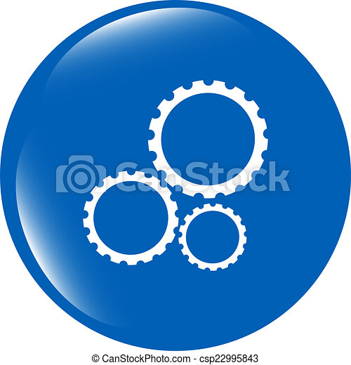 gears icon (button) isolated on a white background - csp22995843