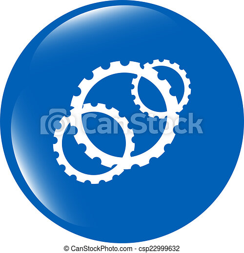 gears icon (button) isolated on a white background - csp22999632