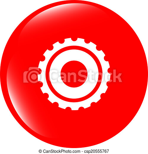 gears icon (button) isolated on a white background - csp20555767