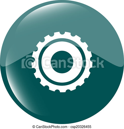 gears icon (button) isolated on a white background - csp20326455