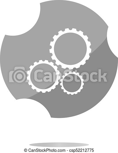 gears icon (button) isolated on a white background - csp52212775