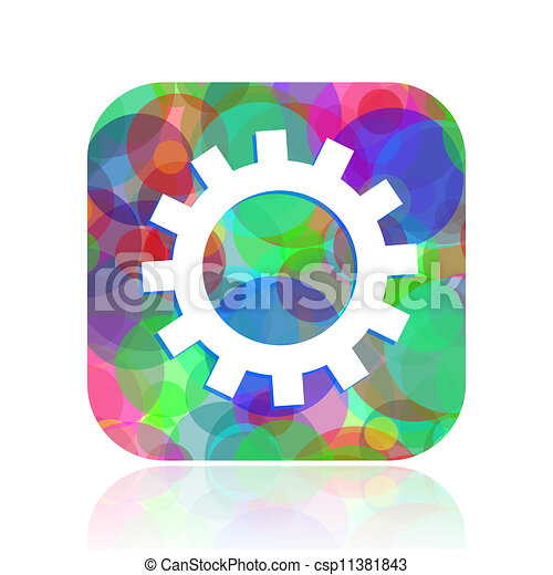 gears icon - csp11381843