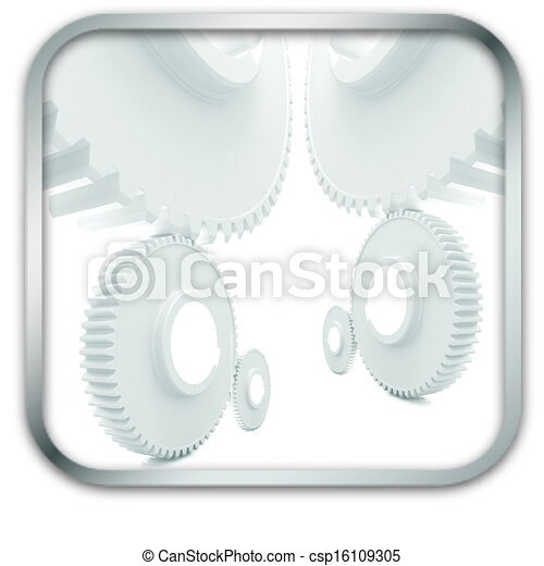 Gears icon - csp16109305