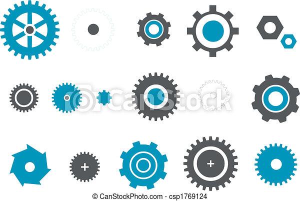 Gears icon set - csp1769124