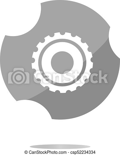 gears icon web button isolated on a white background - csp52234334