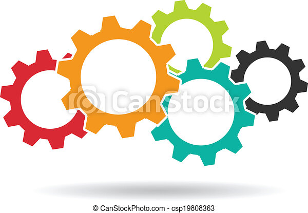 gears logo concept of teamwork clip art vector search drawings rh canstockphoto com clipart teamwork makes the dream work clip art teamwork images