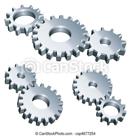 gears., metal - csp4677254