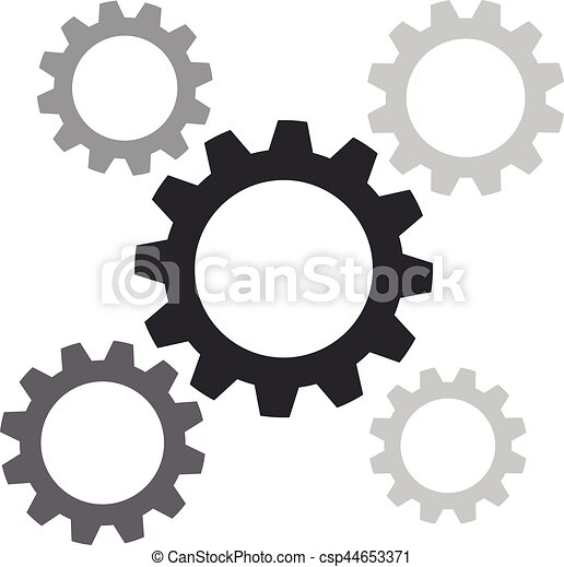 Gears on a white background - csp44653371