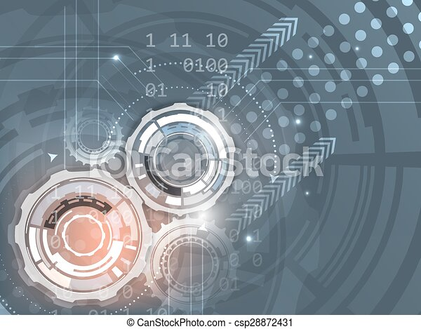 Gears on abstract vector background - csp28872431