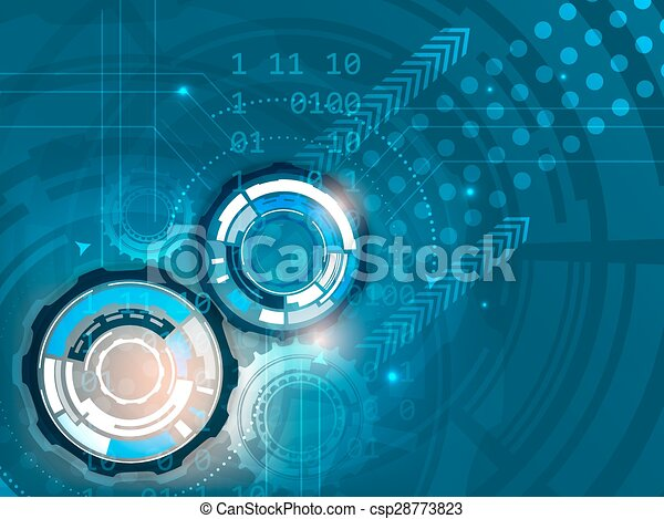 Gears on abstract vector background - csp28773823