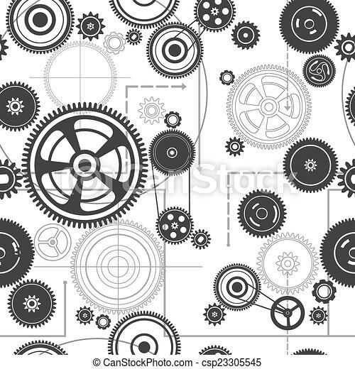 Mecanismo de tracción sin daños - csp23305545