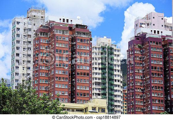 Hong-Kong-Haus - csp18814897